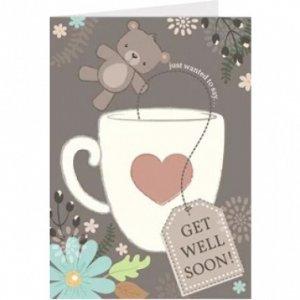 Bear Get Well Soon Card