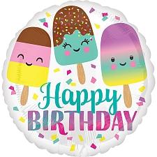 Ice Cream Birthday Foil Balloons Delivery UK