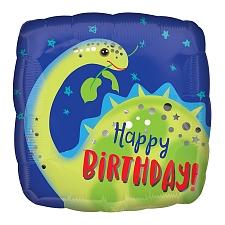 Happy Birthday Brontosaurus Foil Balloons Delivery UK