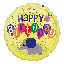 Elephant Birthday Foil Balloons Delivery to UK