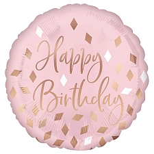 Blush Birthday Foil Balloons Delivery UK