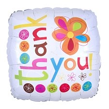 Thank You Colourful Flowers Foil Balloons Delivery UK