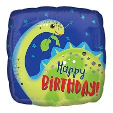Happy Birthday Brontosaurus Foil Balloons Delivery UK