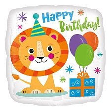 Happy Birthday Lion Foil Balloons Delivery UK