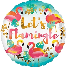 Lets Flamingle Standard Foil Balloon delivery to UK [United Kingdom]