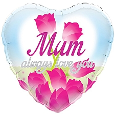 Mum Always Love You Foil Balloon Delivery UK