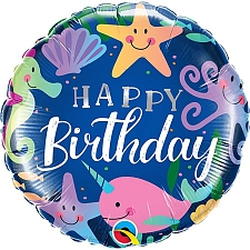 Birthday Fun Under The Sea Foil Balloon Delivery UK