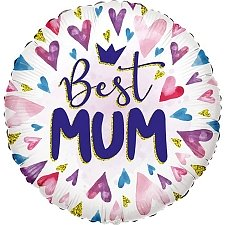 Best Mum Hearts Eco Foil Balloon Delivery UK