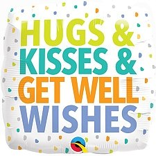 Get Well Wishes Foil Balloon Delivery UK