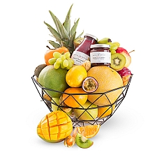 Fruit Dessert Gift Basket Delivery to Belgium
