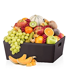 Leather Hamper Classic Fruit Delivery France