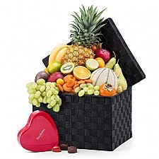 Exotic Fruit and Neuhaus Tin Heart Delivery Switzerland