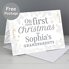 Personalised On Your First Christmas Card Delivery UK