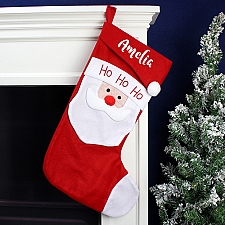 Personalised Name Only Santa Christmas Stocking Delivery UK