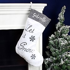 Personalised Let It Snow Christmas Stocking Delivery UK