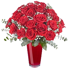 24 Lavish Red Roses Delivery Egypt