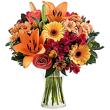 Peach Lilies and Roses Delivery to New Zealand