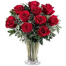 10 Sincere Red Roses Delivery to Mexico