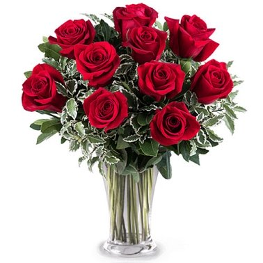 10 Sincere Red Roses Delivery to Gibraltar