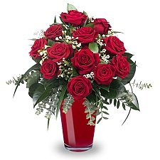 12 Classic Red Roses delivery to Kazakhstan