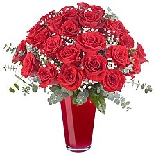 24 Lavish Red Roses Delivery Chile