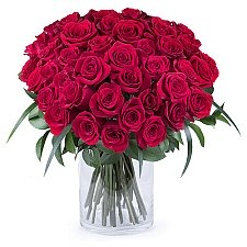 50 Shades of Red Roses Delivery to Belarus