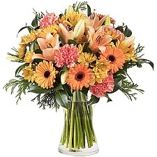 Orange Lilies and Carnations Delivery to Iceland