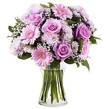Pink Roses and Gerberas Delivery to Austria