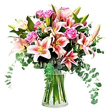 Roses and Lilies Delivery to Indonesia