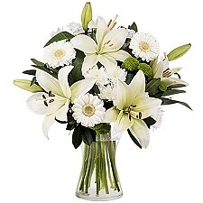 White Lilies and Gerberas Delivery to Latvia
