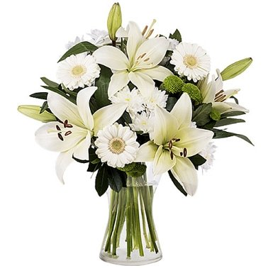 White Lilies and Gerberas Delivery to Australia