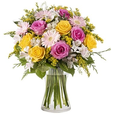 Yellow and Pink Roses Delivery to Australia