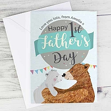 Personalised 1st Fathers Day Daddy Bear Card