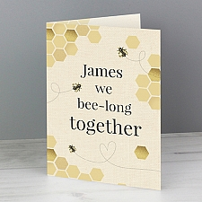 Personalised We Bee Long Together Card delivery to UK [United Kingdom]