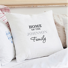 Personalised The Family Cushion Cover Delivery to UK