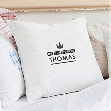 Personalised Reserved for Cushion Cover Delivery to UK
