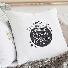 Personalised Moon and Back Cream Cushion Cover delivery to UK [United Kingdom]