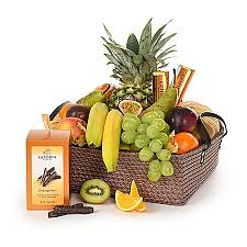 Supreme Fruit and Godiva Basket Delivery to Belgium