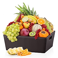 Leather Hamper Exotic Fruit Delivery to Switzerland