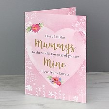 Personalised Floral Watercolour Card delivery to UK [United Kingdom]