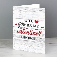 Personalised Be My Valentine Card delivery to UK [United Kingdom]