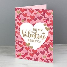 Valentines Day Confetti Hearts Card