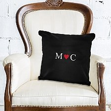 Personalised Monogram Black Cushion Cover delivery to UK [United Kingdom]
