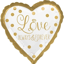 Gold Wedding Foil Balloons Delivery to UK