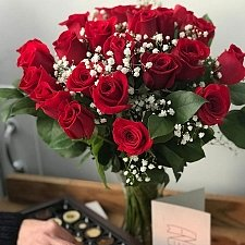 Promise 24 Red Roses Delivery UK