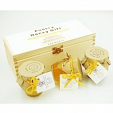 Wooden Honey Gift Set of 3 delivery uK