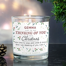 Personalised Christmas Scented Jar Candle Delivery UK