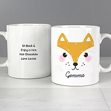 Personalised Cute Fox Face Mug Delivery UK