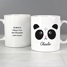 Personalised Cute Panda Face Mug Delivery UK