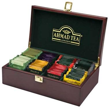 Ahmad Tea Wooden Tea keeper Box Delivery to UK